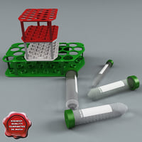 Plastic Vials and Racks Collection V2