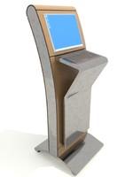 3d model interactive kiosk