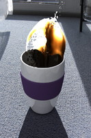 3d coffee cup splash model