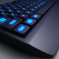 pc keyboard 3d model