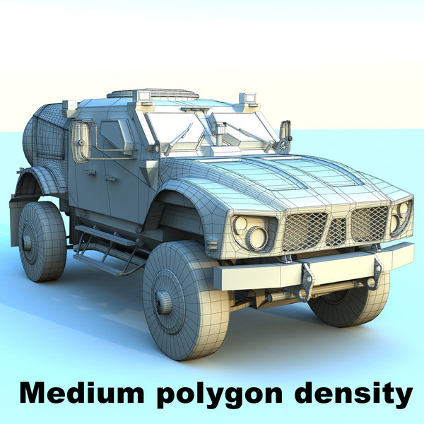 m-atv mrap v2 3d model - M-atv Mrap V2... by RippleDesign