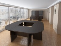 interior office 3d 3ds