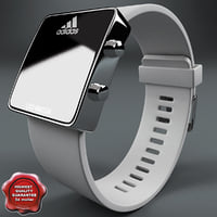 3d adidas led watch white