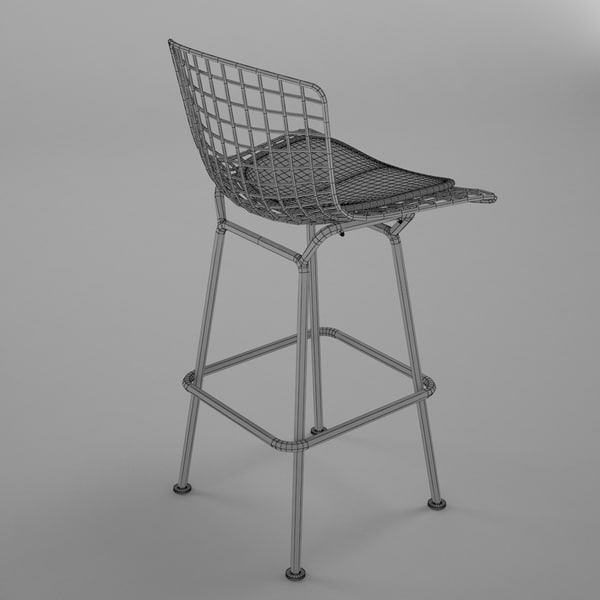 3d model bertoia bar stool - Bertoia Bar Stool... by BBB3viz