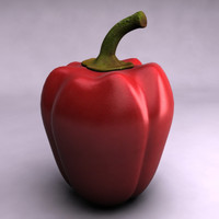 pepper red vegetable 3d max