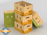 maya corrugated fruits vegetables box