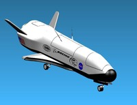 3d x-37 space x-37b model