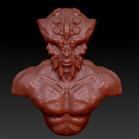 3d model of alien monster zbrush