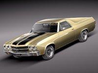 3d model chevrolet el camino 1970
