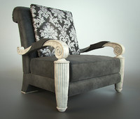 3d armchair elledue orpheo model