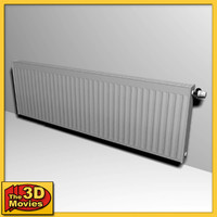 3ds max low-poly heating radiator