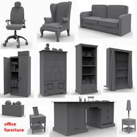 3d model of office furniture