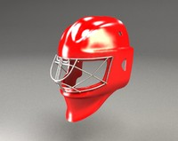 3d hockey mask goolman equipment model