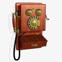antique phone 3d model