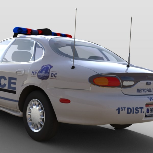 police car 3d model - Ford Taurus Police Car... by Steven Auto Designs