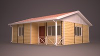 homes facade roof 3d 3ds