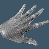 3d single mesh control model