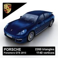 3d 2013 porsche panamera gts model