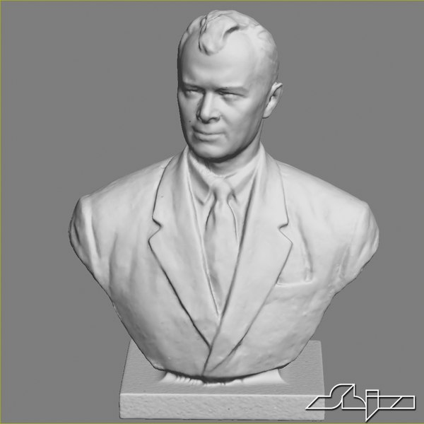 3d model of man bust - Sculpture 2 Man Bust... by shiva3d