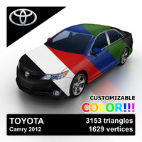 3d 2012 toyota camry color