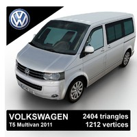 3d model 2011 volkswagen t5 multivan