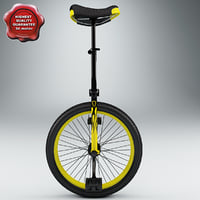 3ds yellow unicycle