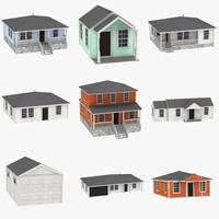 houses 3d c4d