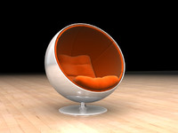 c4d ball chair