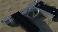 pistol separate parts 3d model