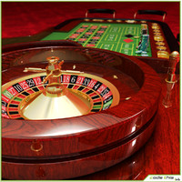 3d model casino roulette wheel table