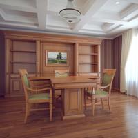 photorealistic interior classic 3d max