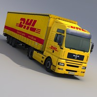 MAN TGA DHL Semi Trailer Truck