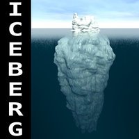 3d iceberg mountain ice model