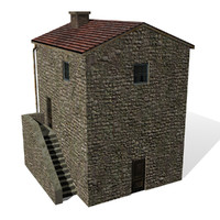 3d model house cottage