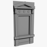 low-poly historical window 3d 3ds