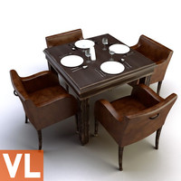 3d chair dining group