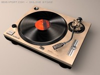 technics turntable 3d 3ds