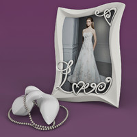 3d photo frame wedding