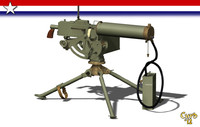 machine gun browning 3d model