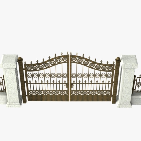 3ds wrought iron gate - Wrought Iron Gate 07... by virtualhorizonstudio