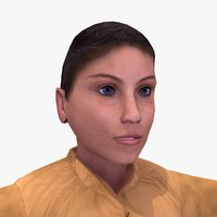 arab female child 3d model