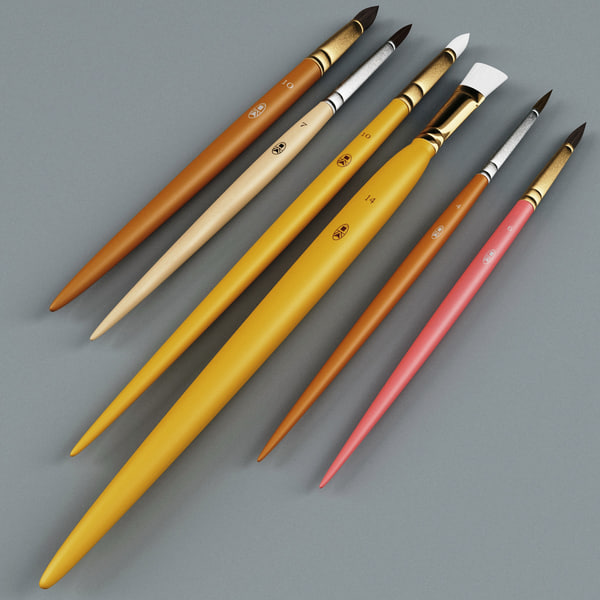 3d artist painting brushes v2 - Artist Painting Brushes Collection V2... by 3d_molier
