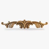 obj decorative carved