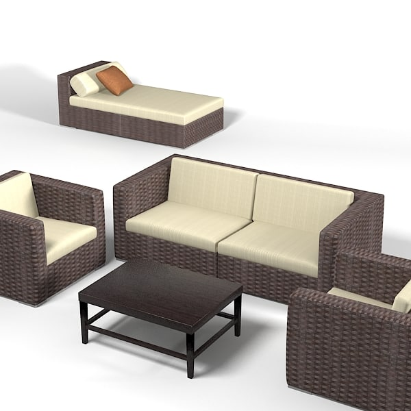 Dedon Wicker  wowen furniture set sofa chair archair chaise lounge longue outdoor terrace.jpg