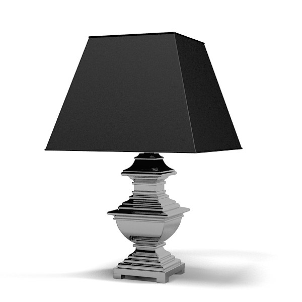 Eicholtz Table lamp Maryland lig05191-62 modern contemporary art deco black shade metal chrome.jpg