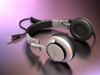 3d model sony headphones
