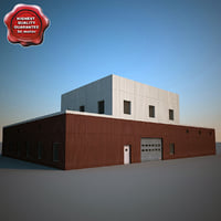 industrial building v2 3d model