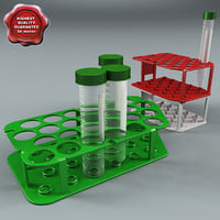 Plastic Vials and Racks Collection