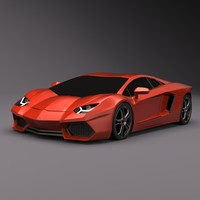 lamborghini aventador sports car 3d model