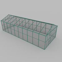 3d model of green house greenhouse